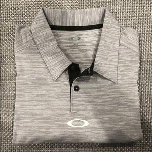 Oakley Men's Gray tailored fit Polo (L) NWOT